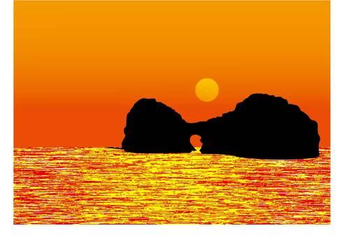 Kunishitsima和日落