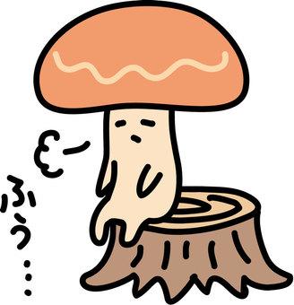鬆散的蘑菇像...