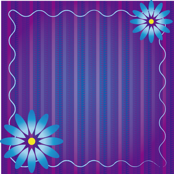 Blue flower background material