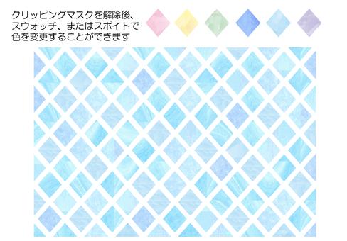 Watercolor light blue diamond pattern