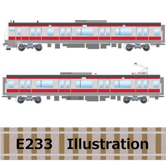 Commuter train E233 series Keiyo line illustration