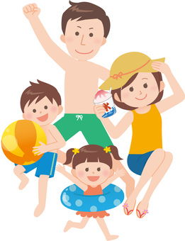 Family (swimming or swimming pool)