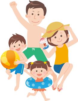 가족 (해수욕 or 수영장 편)