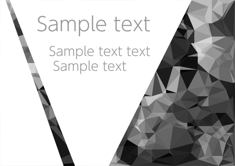 Black polygon vector frame background material