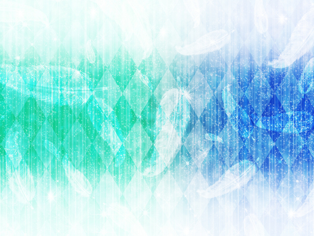 Diamond pattern and blue-green background of feathers