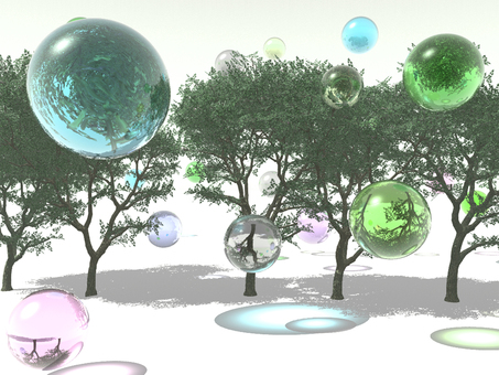 Tree and glass ball