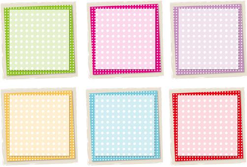 Polka dot layer back square