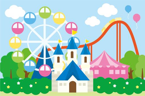 Landscape amusement park