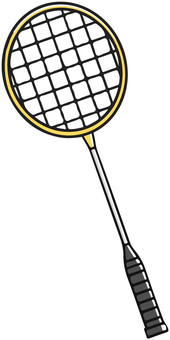 Yellow badminton racket