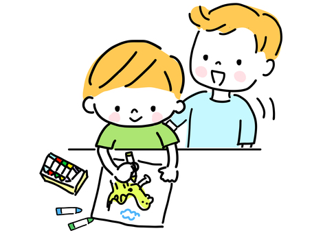 Children doing drawing