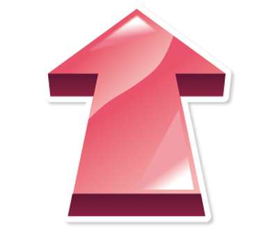3D arrow _ icon _ pink _ upward
