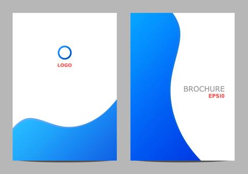 Template design curve blue