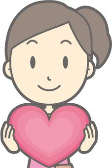 女遊客青年a  - 心臟 - 胸圍