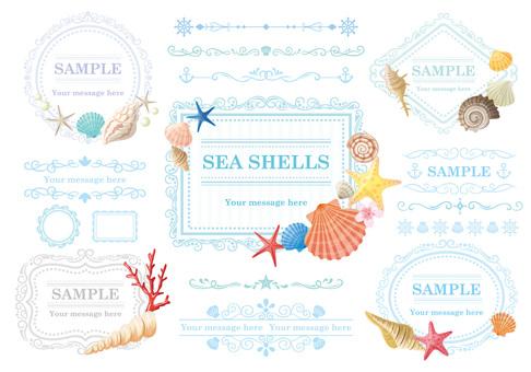 Seashell frame material