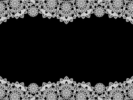 Lace frame white delicate background material