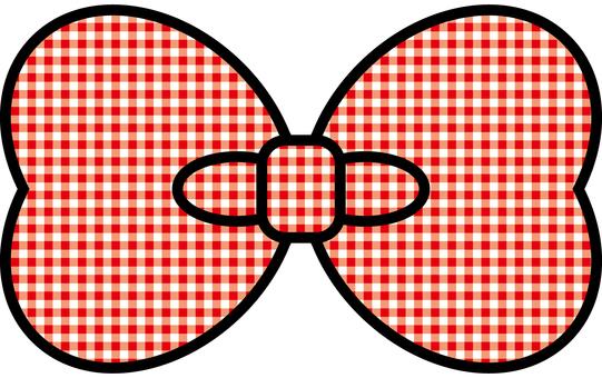 Check ribbon red