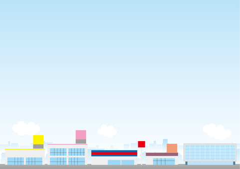 Cityscape Background Series Retail