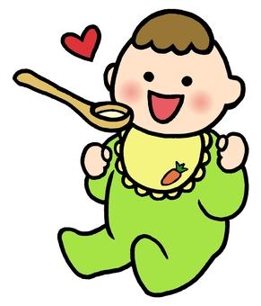 嬰兒嬰兒食品的顏色