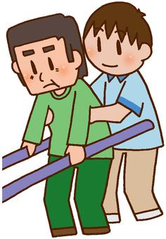 【Rehabilitation】 Walking training / parallel bars
