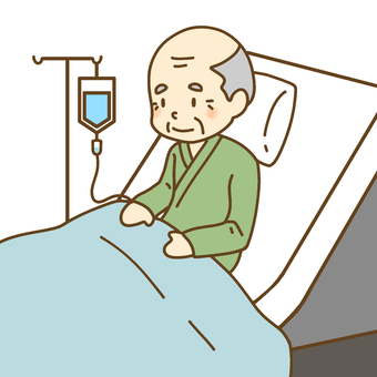 A grandpa for intravenous drip