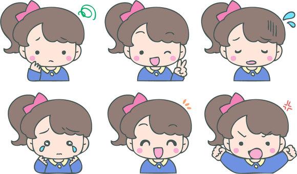 Children's emotion set (girl)