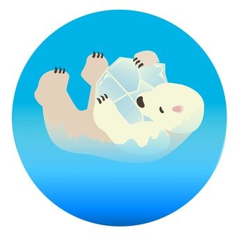 Ice and white bear icon