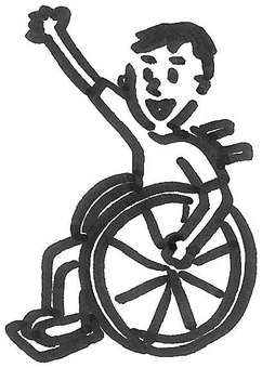 Wheelchair on wheelchair