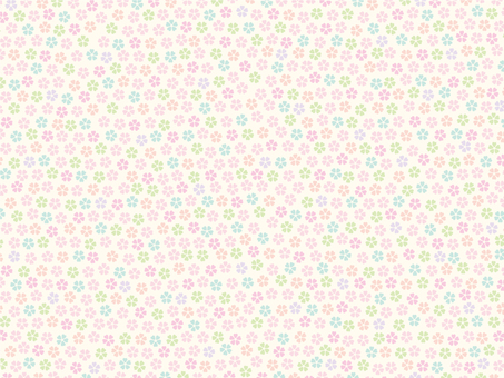 Colorful cherry tree pattern background 1