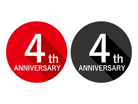 Anniversary Label 4th Anniversary 4th