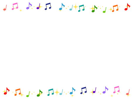 Colorful musical note decorative frame 3