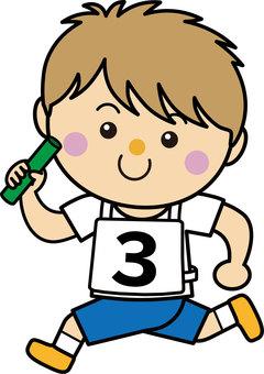 Boy 13_08 (running · baton relay)