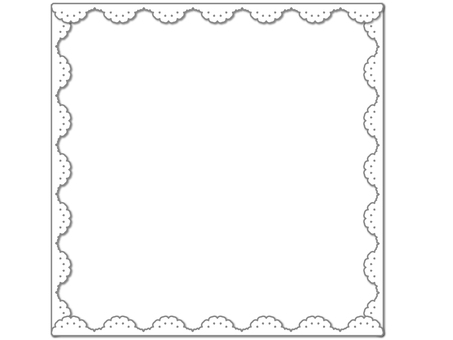 Lace pattern frame