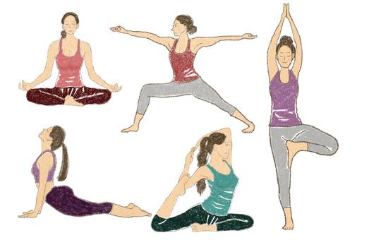 Yoga pose set