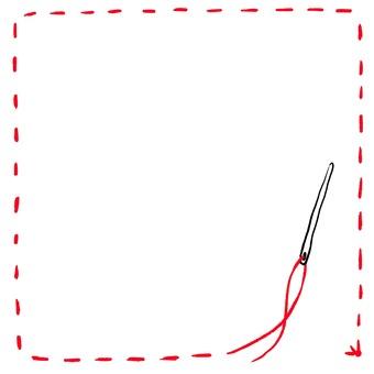 Frame frame red thread seam