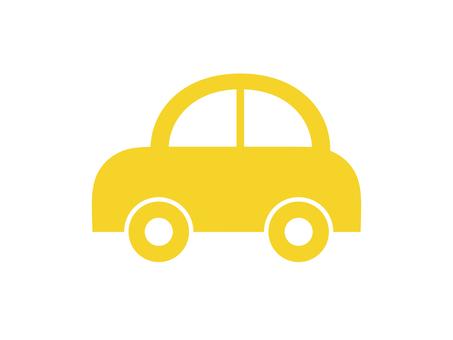 자동차 자동차 실루엣 가로 노란색