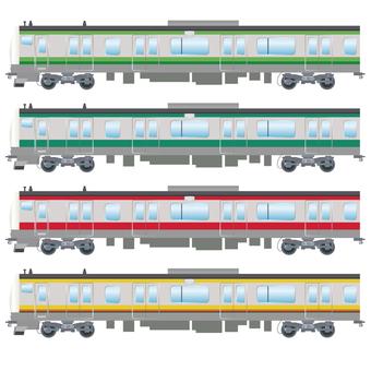 Commuter train E233 series 2 Illustration