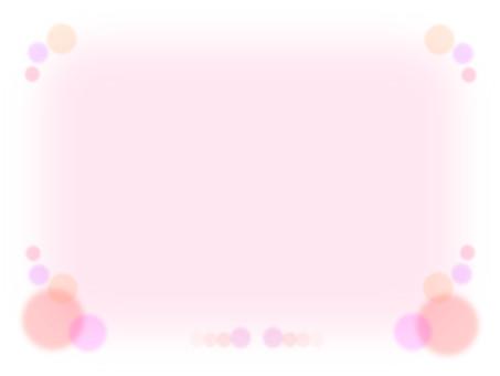 Mesh frame motif frame material · peach color system
