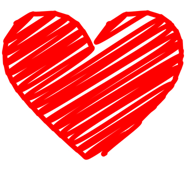 Graffiti-style heart (red)