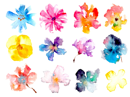 Water color flower