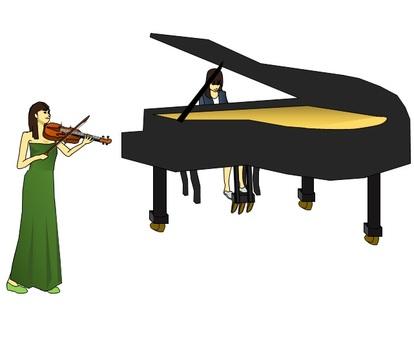 バイオリンとピアノ・・2019.5