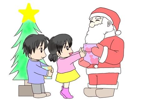 크리스마스 / 산타와 아이들