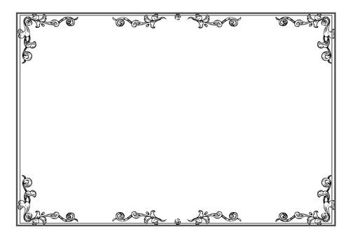 Retro Frame Leaf 03