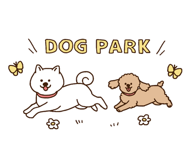 A dog running on a dog run (simple)