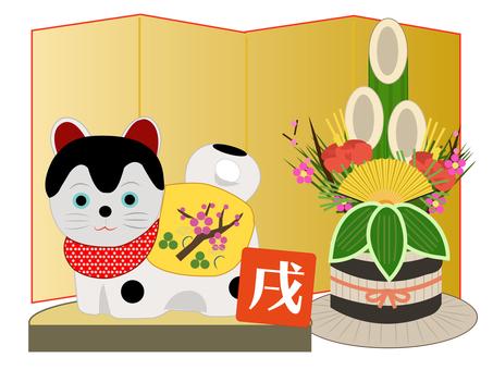 狛犬の正月飾り