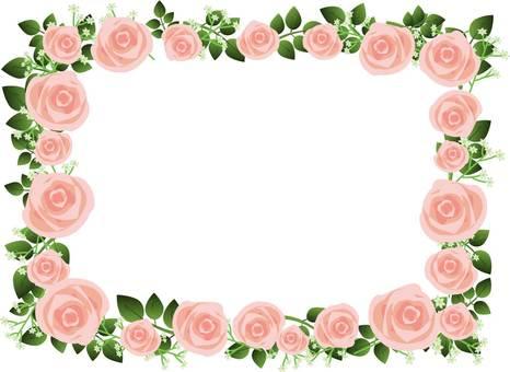 玫瑰和草模糊的框架