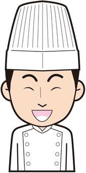 Male chef (laugh)