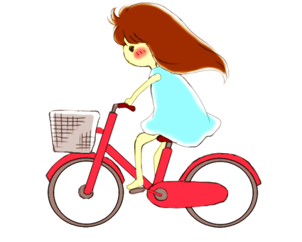 Bicycle and girl