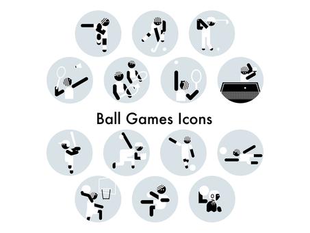 球技種目のアイコンセット