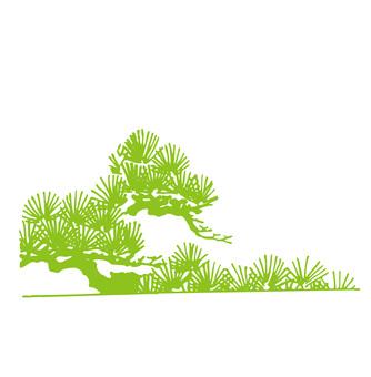 Pine leaf silhouette