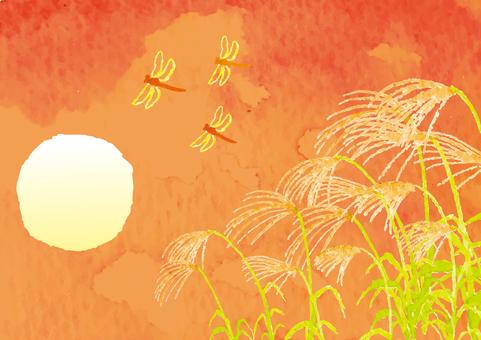 """""""수채화 바람""""가을 저녁"""